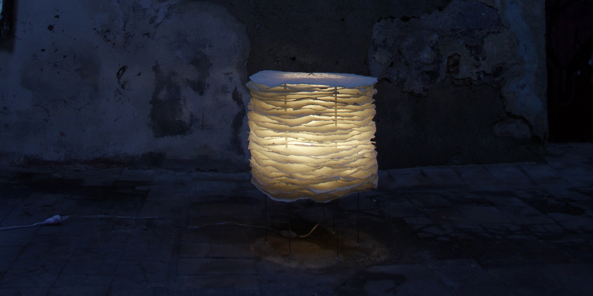 Lampe millefeuille à poser 50