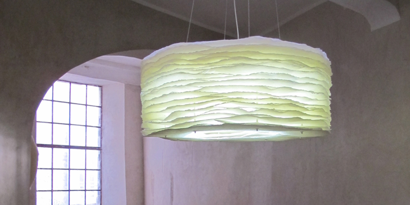 Lampe millefeuille suspension 100